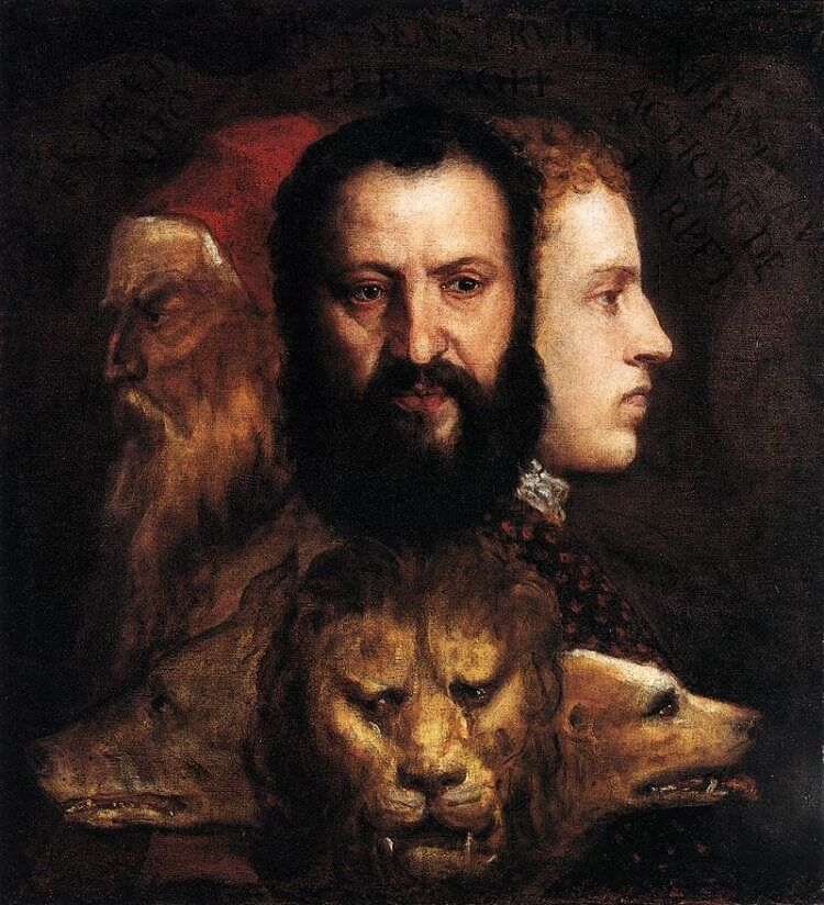 An Allegory of Prudence, 1565-70 by Titian