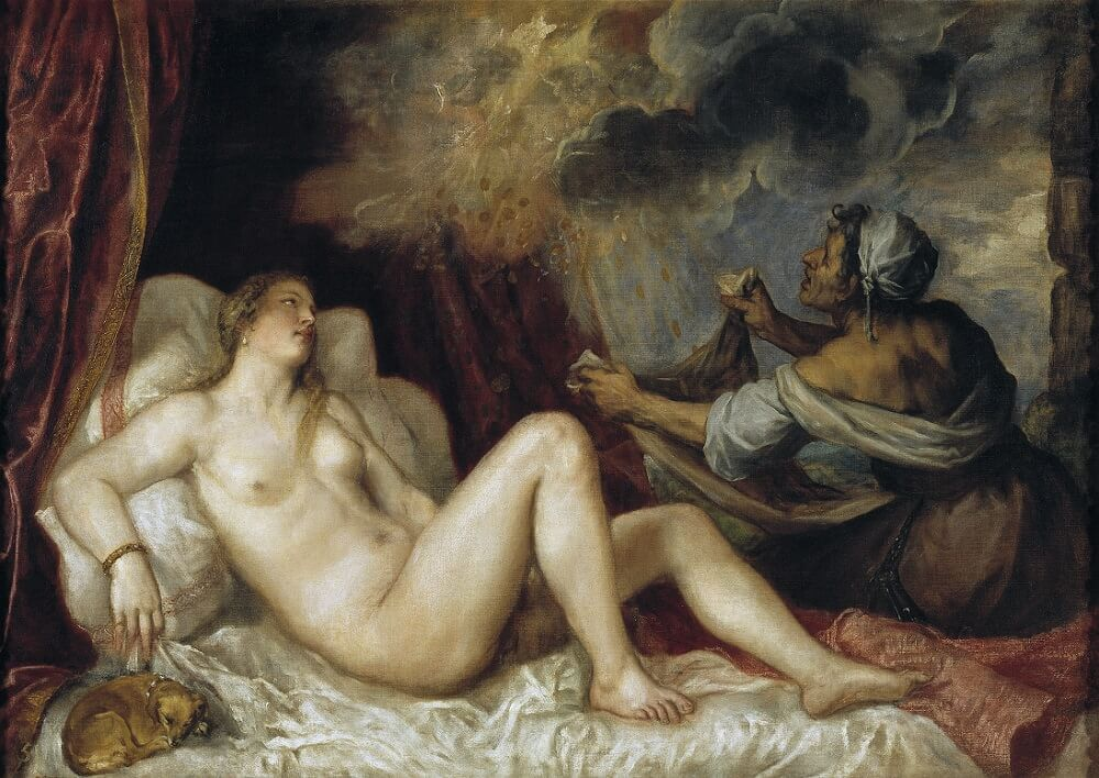 Danae Receiving the Golden Rain, 1553 by Titian