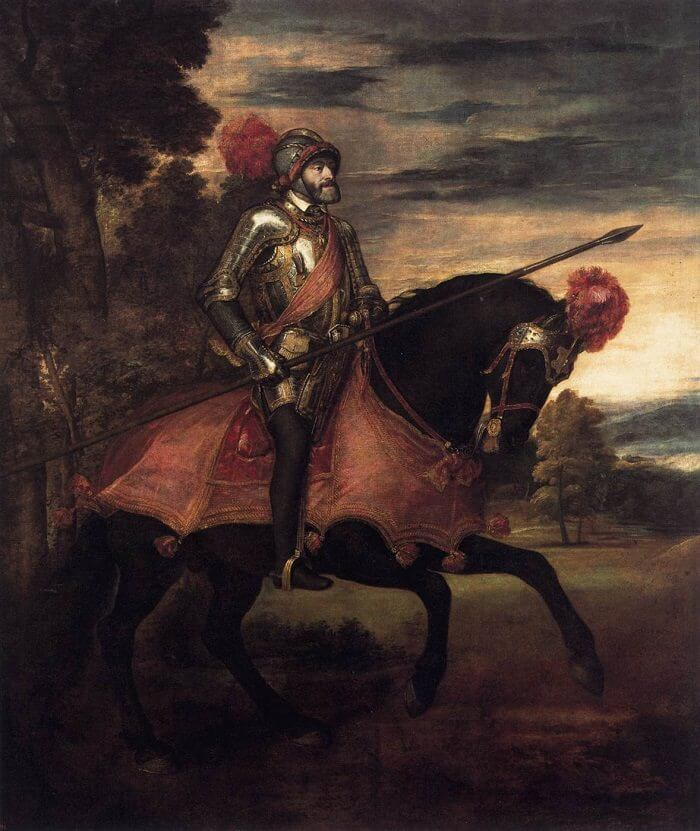 Equestrian Portrait of Charles V, by Titian