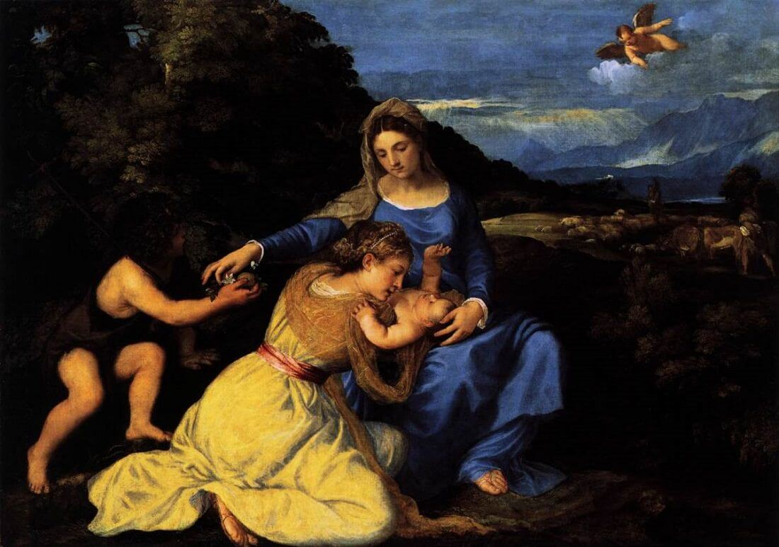 Madonna and Child with Saint John and Saint Catherine, 1530 by Titian