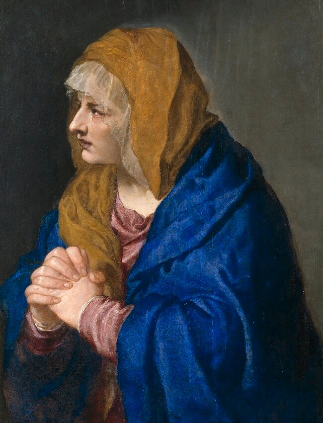 Mater Dolorosa, 1550 by Titian