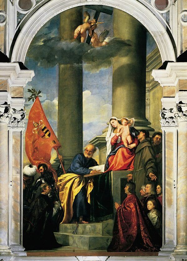Pesaro Madonna, 1519-26 by Titian