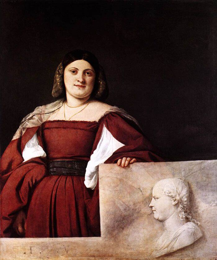 Portrait of a Lady, 1510 by Titian