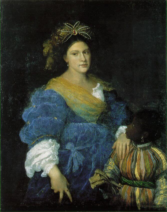 Portrait of Laura Dianti, 1520 by Titian