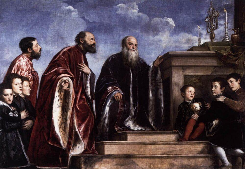 Portrait of the Vendramin Family, 1543 by Titian