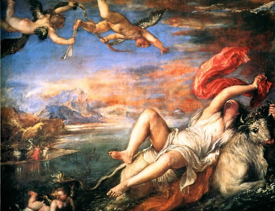Rape of Europa, 1559-62 by Titian