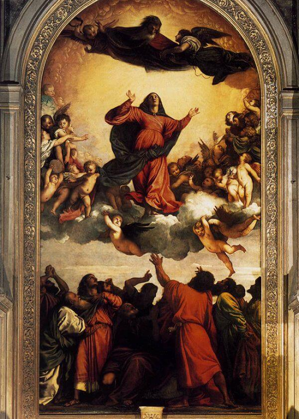 The Assumption of the Virgin, 1516-18 by Titian