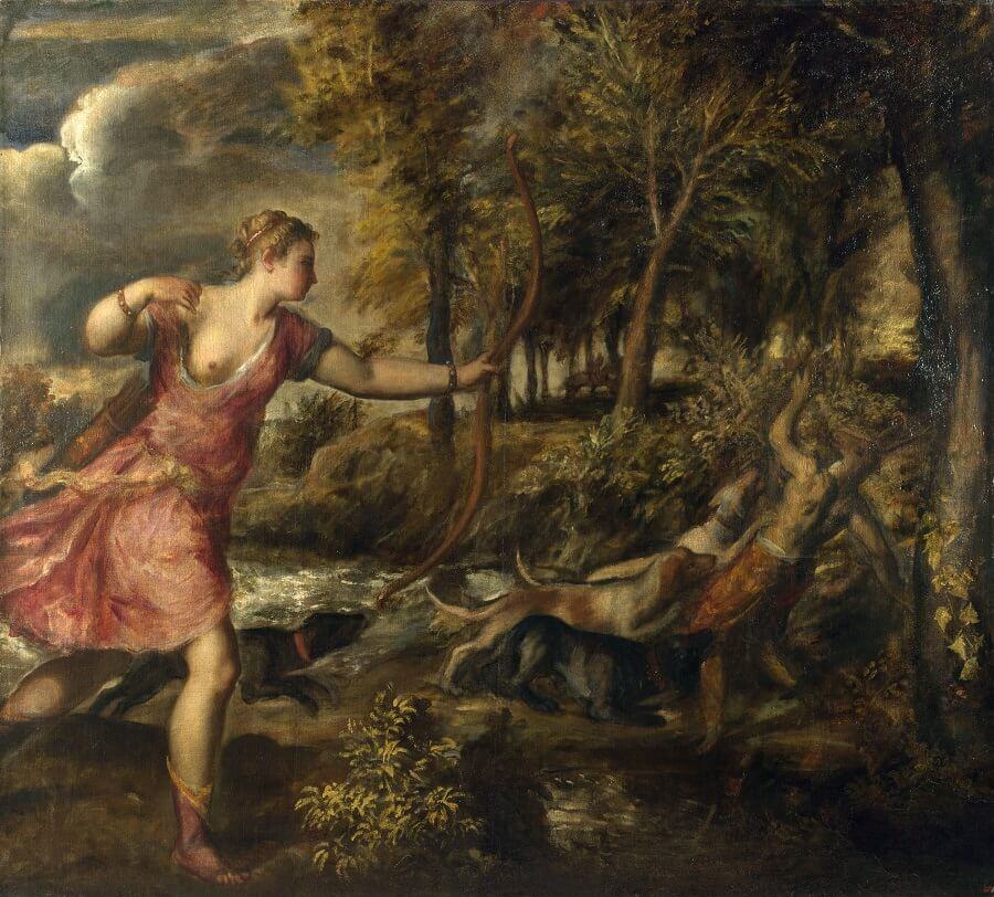 The Death of Actaeon, 1559-75 by Titian