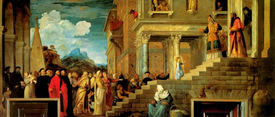 The Presentation of the Virgin in the Temple, 1534-38 by Titian