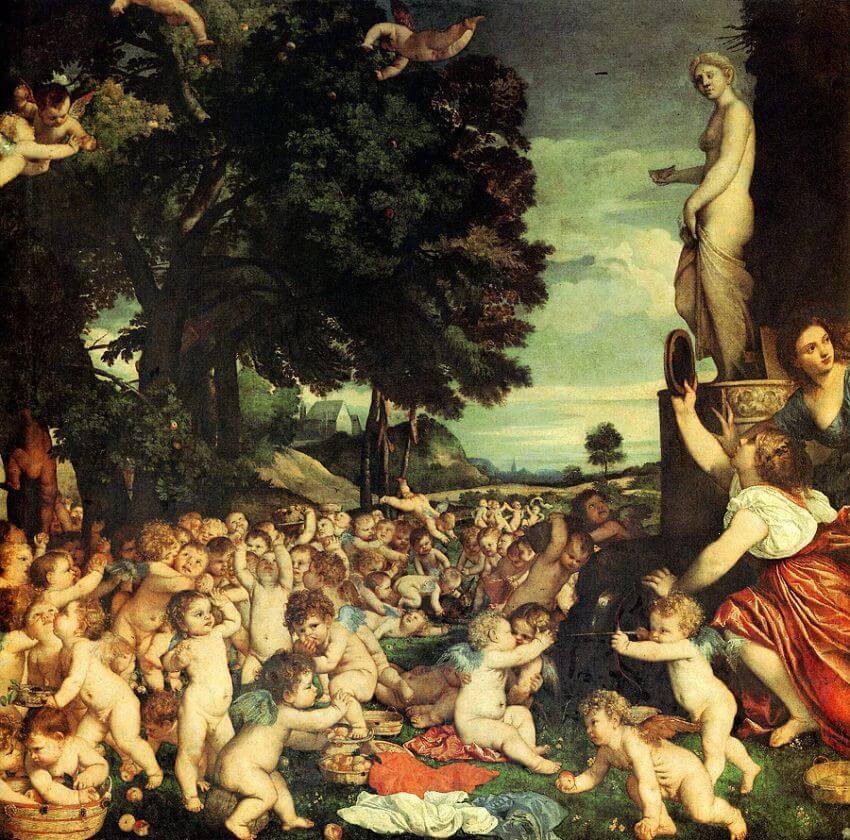 The Worship of Venus, 1516 by Titian