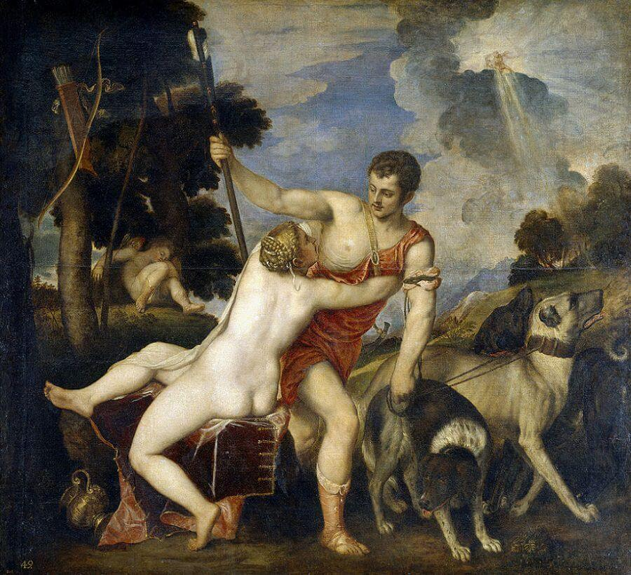 Venus and Adonis, 1554 by Titian