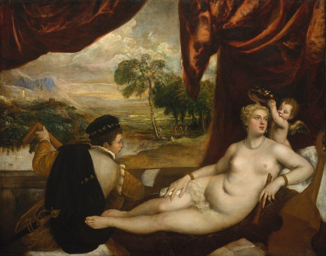 Venus and Lute Player, 1360 by Titian