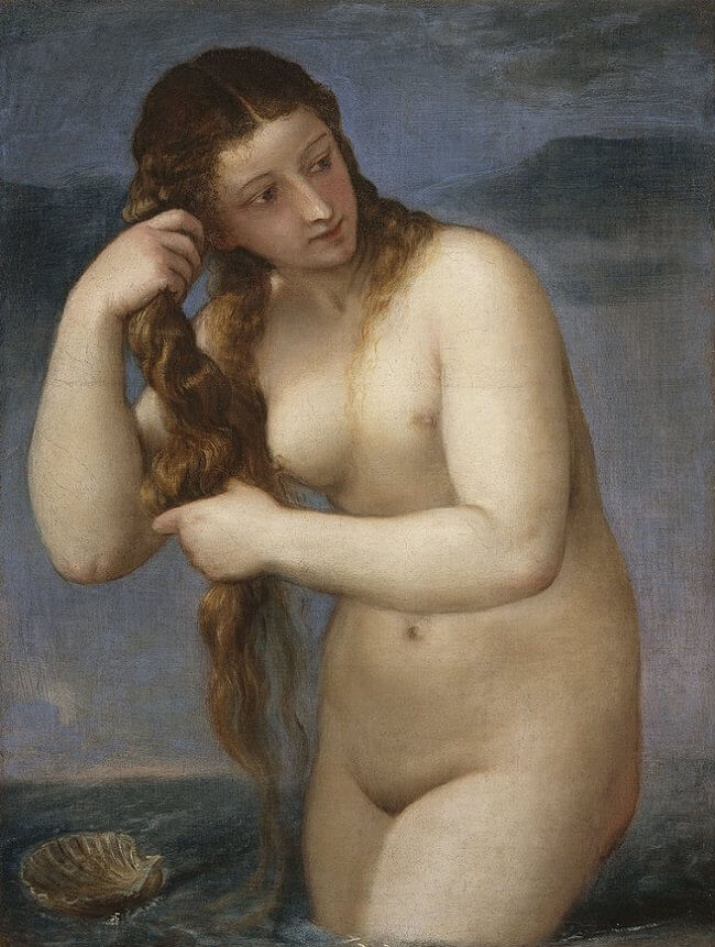 Venus Rising from the Sea, 1520 by Titian