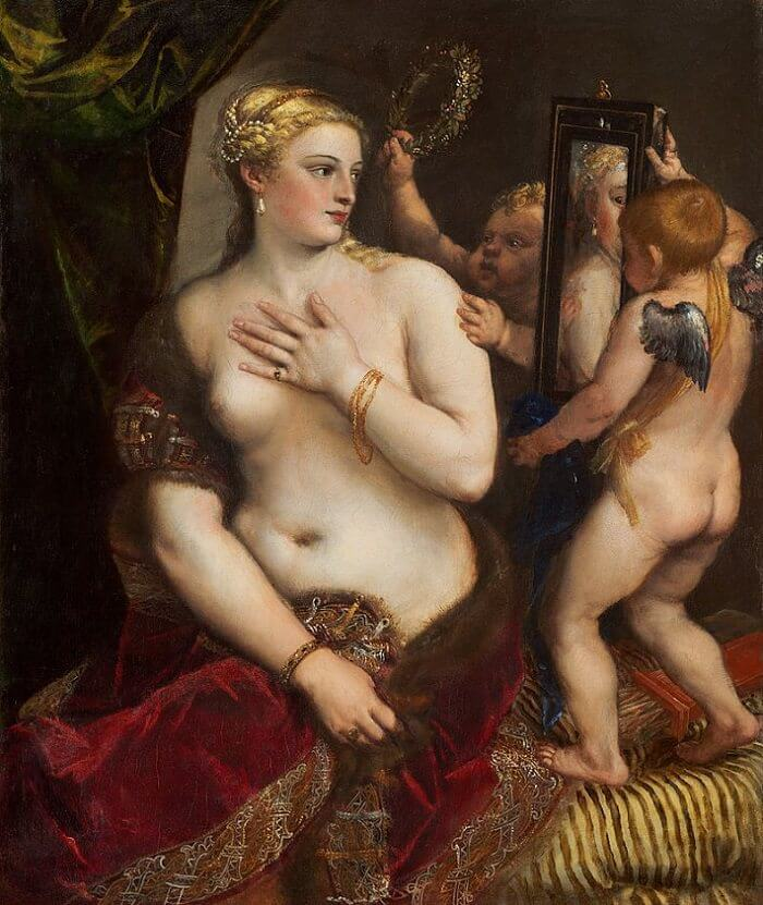Venus with a Mirror, 1555 by Titian